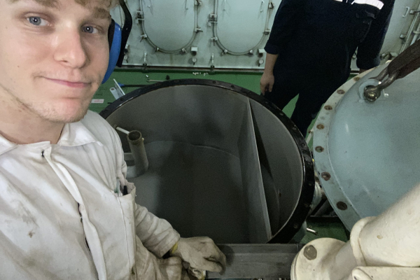 Alex, one of our engineering cadets has been in touch about his experience at sea.