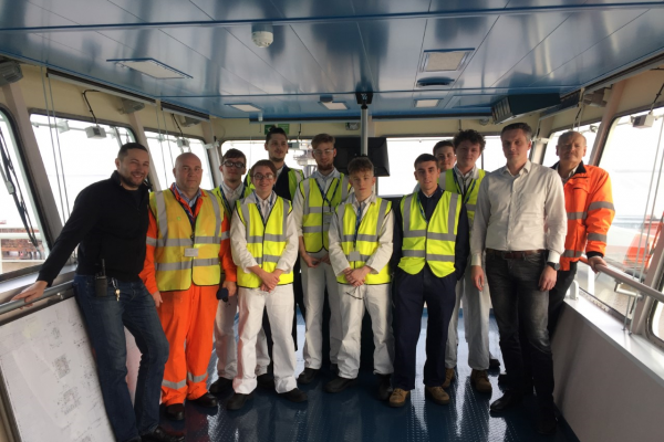 Cadets visit DFDS